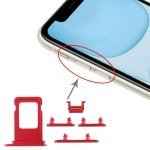 SIM Card Tray + Side Key for iPhone 11(Red)