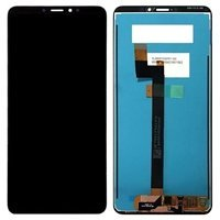 LCD screen with Touch Mechanism for Xiaomi MI Max 3 - Color: Black
