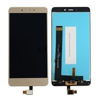 LCD screen with Touch Mechanism for Xiaomi Redmi Note 4 - Color: Gold