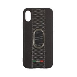 Weimi Back Case With Stand for Apple iPhone X / Xs - Color: Black