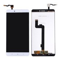 LCD screen with Touch Mechanism for Xiaomi MI Max 2 - Color: White