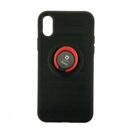 IFace Back Case with Stand for Apple iPhone X / XS - Color: Black - Red