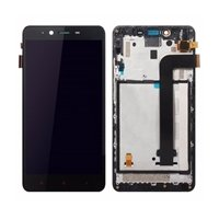 LCD screen with Touch Mechanism and Frame for Xiaomi Mi Note 2- Color: Black
