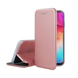 OEM Smart Magnet Elegance Book Case for Apple iPhone X / XS - Color: Gold Pink
