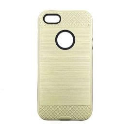 Back Tough Brushed Cover for Apple iPhone 5 / 5s / 5c - Color: Gold