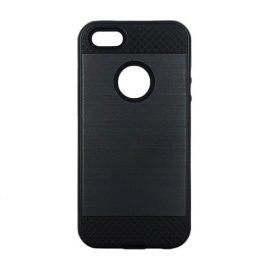 Tough Brushed Cover Backpack for Apple iPhone 5 / 5s / 5c - Color: Black