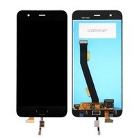 LCD Screen with Touch Mechanism with Central Button Cable for Xiaomi MI6 - Color: Black