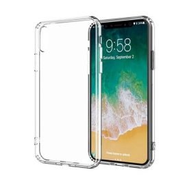 Silicone Back Case for Apple iPhone X / XS - Color: Transparent