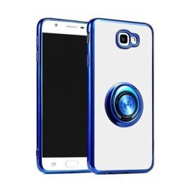 Fingertip Gyroscope 2 In 1 Gyro Bracket Back Case for Apple iPhone X / XS - Color: Blue