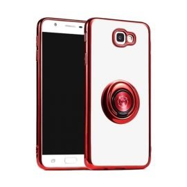Fingertip Gyroscope 2 In 1 Gyro Bracket Back Case for Apple iPhone X / XS - Color: Red