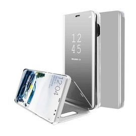 Clear View Stand Case for Apple iPhone X / XS - Color: Silver