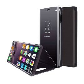 Clear View Stand Case for Apple iPhone X / XS - Color: Black