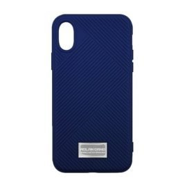 Molan Cano Jelline Bumper Back Case for Apple iPhone X / XS - Color: Dark Blue