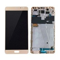 LCD Screen with Touch Mechanism and Frame for Xiaomi Redmi Pro - Color: Gold