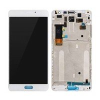 LCD Screen with Touch Mechanism and Frame for Xiaomi Redmi Pro - Color: White