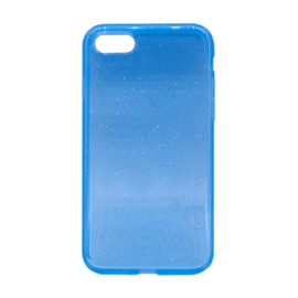 Glittering Silicone Back Case for Apple iPhone 7/8 - Color: Blue
