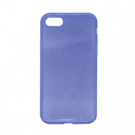 Glittering Silicone Back Case for Apple iPhone 7/8 - Color: Purple