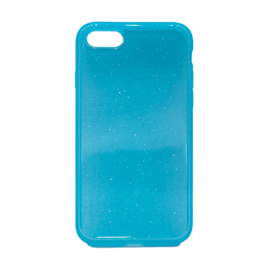 Glittering Silicone Back Case for Apple iPhone 7/8 - Color: Turquoise