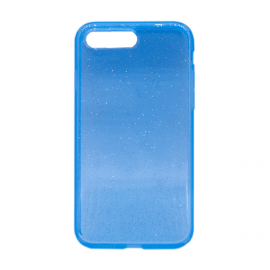 Glittering Silicone Back Case for Apple iPhone 7 Plus / 8 Plus - Color: Blue