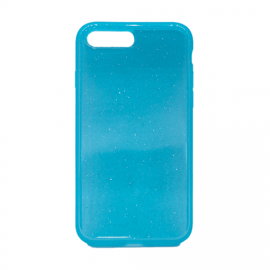 Glittering Silicone Back Case for Apple iPhone 7 Plus / 8 Plus - Color: Turquoise