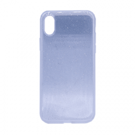 Glittering Silicone Back Case for Apple iPhone X / XS - Color: Transparent