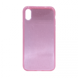 Glittering Silicone Back Case for Apple iPhone X / XS - Color: Pink