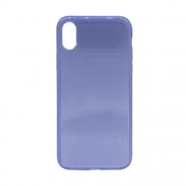 Glittering Silicone Back Case for Apple iPhone X / XS - Color: Purple