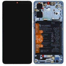 A+ LCD & Frame Huawei Ascend P30 Blue-Silver Breathing-Crystal 02352NLP