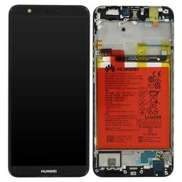 LCD / Frame & Battery Huawei P Smart Black 02351SVJ