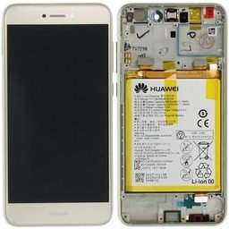 LCD / Frame & Battery Huawei P8 Lite 2017 / Honor 8 Lite Gold-02351DYP