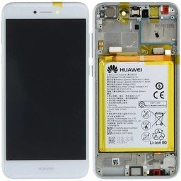 LCD / Frame & Battery Huawei P8 Lite 2017 / Honor 8 Lite White-02351DYN